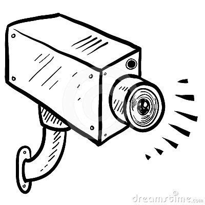 cctv clipart cartoon pencil and in color cctv clipart