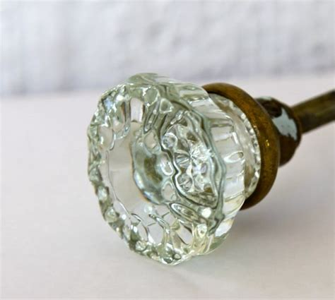 Glass Door Knobs by Vintage Glass Door Knob Pair With Hardware