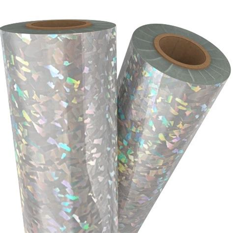 silver foil glass shattered glass silver holographic laminating foil
