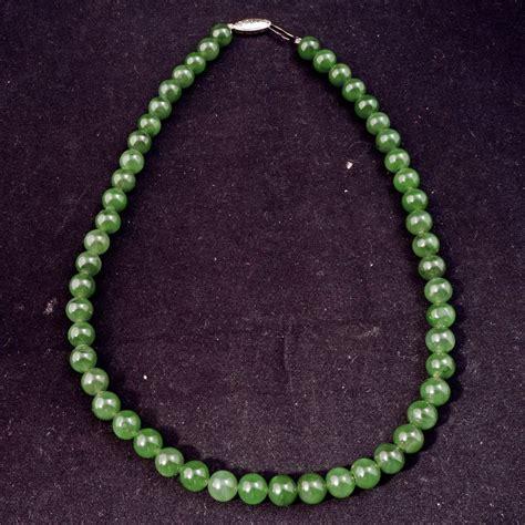 dark jade chinese dark green jade 17 necklace bear raven ruby