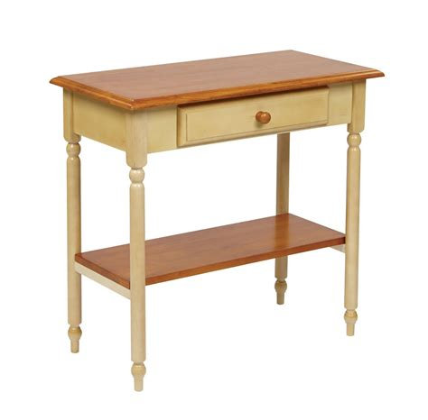 accent table for foyer wood country buttermilk cherry finish foyer hall entry
