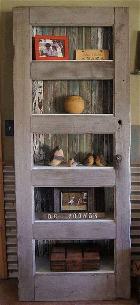 ways  reuse  recycle wood doors  shelving units