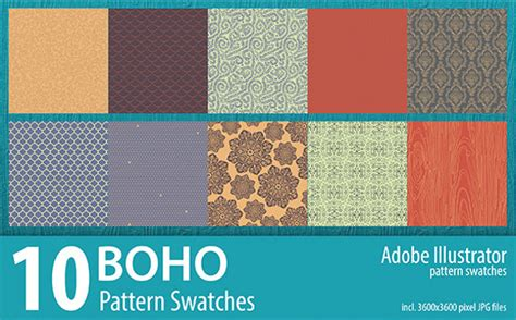download pattern swatches illustrator 20 bohemian patterns jpg vector eps ai illustrator