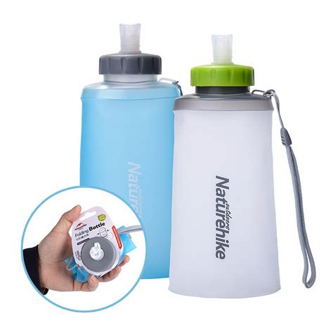 Silicone Folding Bottle naturehike silicone folding water bottle outdoor sports