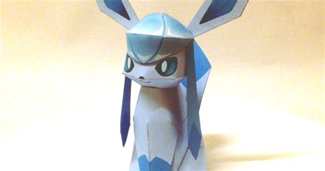 Glaceon Papercraft - yoshiny s design glaceon papercraft from