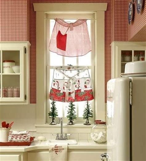 cute kitchen curtains aprons as kitchen curtains too cute kitchen love