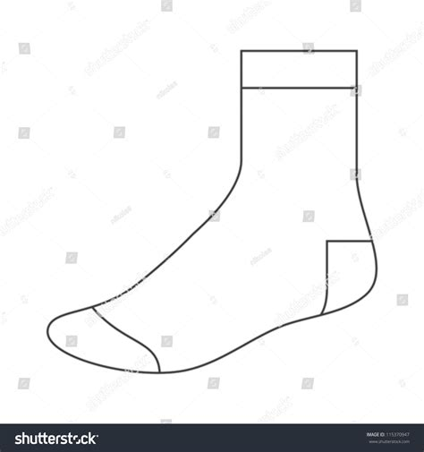sock template stock vector 115370947 shutterstock