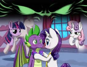 Mlp spike and sweetie belle fanfic 306910 artist pia sama blushing