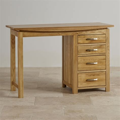 Oak Vanity Table With Drawers Tokyo Dressing Table In Solid Oak Oak Furniture Land
