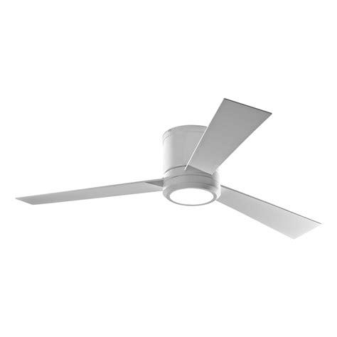 white 3 blade ceiling fan shop monte carlo fan company clarity 52 in rubberized