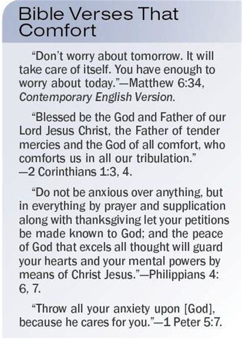 bible passages for comfort bible quotes on comfort quotesgram