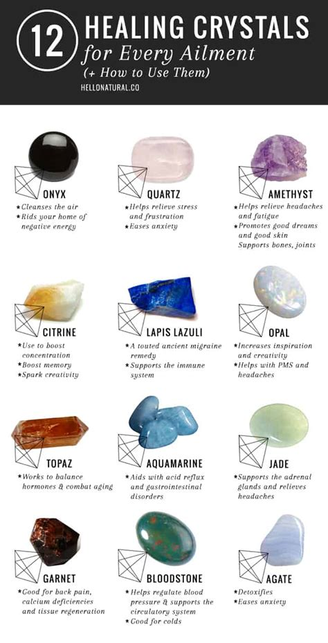 a caminho da luz 12 healing crystals and their meanings uses