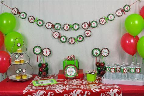 christmas themed birthday party ideas home party ideas