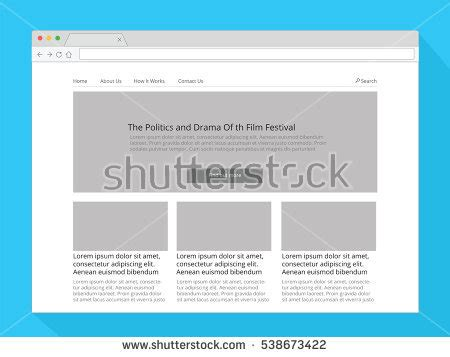 Simple Search Wisconsin Web Wireframe Stock Images Royalty Free Images Vectors