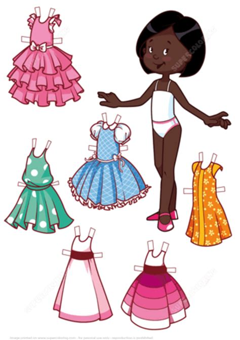 American Doll Paper Crafts - six beautiful dresses for a american
