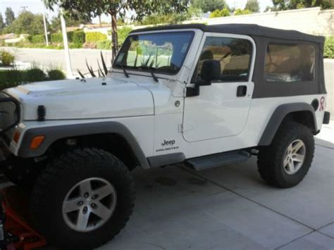 2005 Jeep Wrangler Unlimited Soft Top Buy Used 2005 Jeep Wrangler Unlimited 4 0l 6spd A C Tint