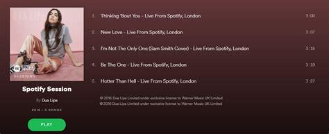 dua lipa tracklist dua lipa spotify session itunes rip m4a itd music
