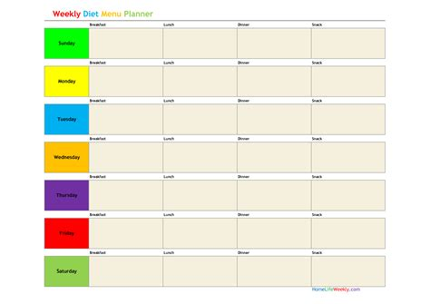meal planning template google search homemaking weekly menu planners menu planners meal
