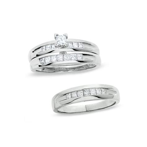 wedding rings sets for him and her cheap custom tailor