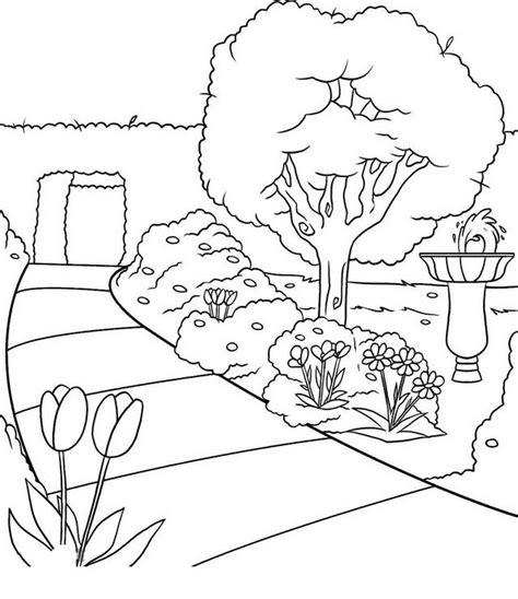 disegno giardino disegno giardino giardini 1 da colorare