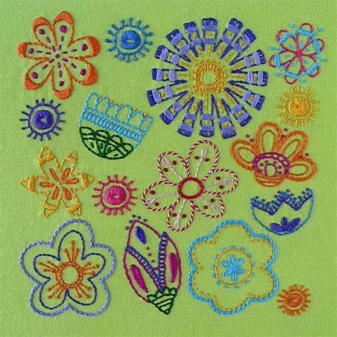 Flower Pattern Embroidery | bloom flower embroidery pattern by wendi gratz craftsy