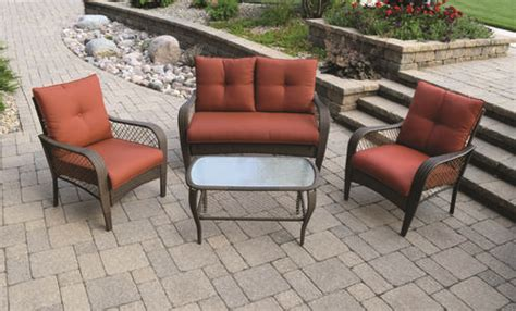 Orchard Patio Furniture Backyard Creations 174 4 Orchard Valley Seating Collection At Menards 174
