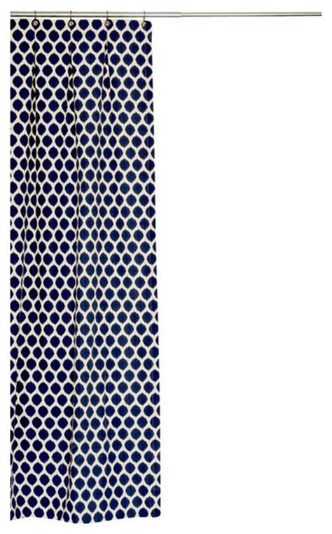 navy blue fabric shower curtain extra long ikat cotton fabric shower curtain navy blue