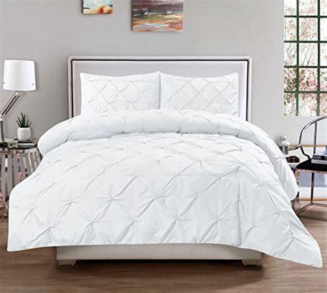 3 piece luxurious pinch pleat decorative pintuck comforter
