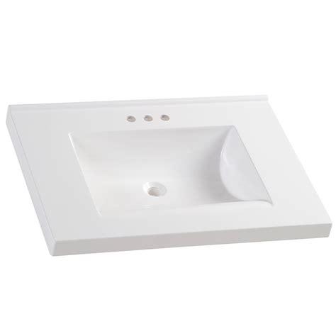 design house vanity top design house 31 in w cultured marble vanity top in white