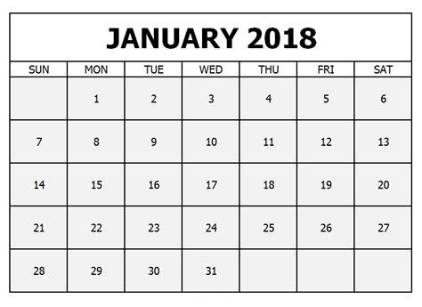 january 2018 calendar template doc january 2018 calendar word document printable templates