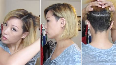 i did my own balayage and razored bob with undercut youtube