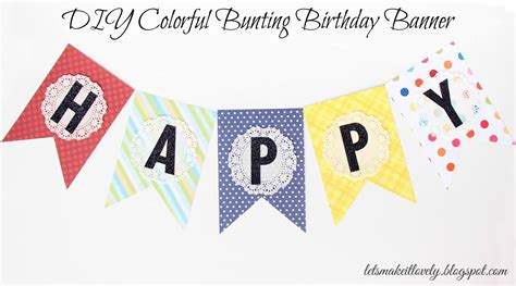 Banner Hello Bunting Flag Hello Banner Hello let s make it lovely diy colorful bunting birthday banner