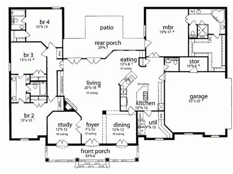 take out bed 3 to make open dining area turn bed 2 into 17 best images about house plans on pinterest 3 car