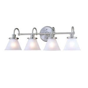 hton bay bathroom lighting hton bay 4 light brushed nickel wall vanity light
