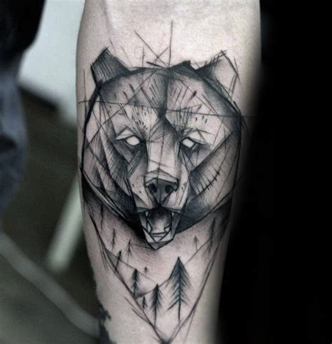 geometric bear tattoo 60 geometric bear tattoo designs for men manly ink ideas
