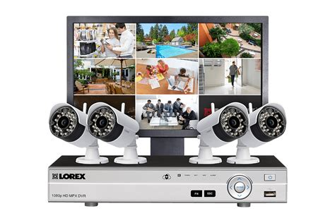 complete security system with 4 wireless cameras and