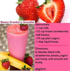 banana strawberry smoothie recipe healthful diet and nutrition