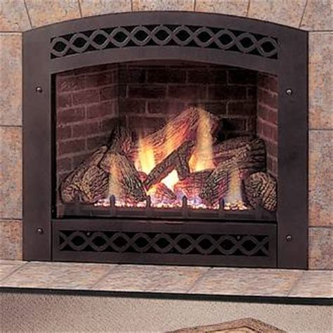 Front Vent Electric Fireplace by Monessen Black Arched Front For Lx36 Direct Vent