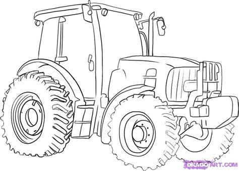 easy tractor coloring page how to draw a tractor step by step trucks