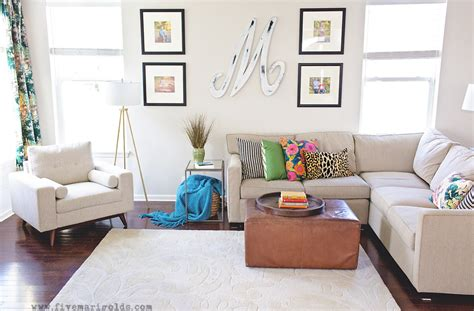living room reveal this makes that clean and colorful living room reveal five marigolds