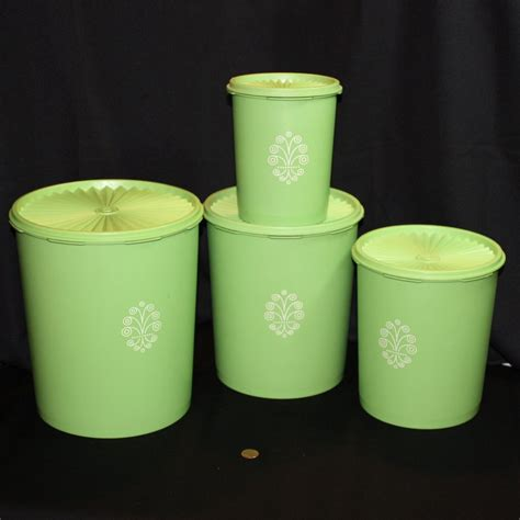 vintage apple canister set vintage tupperware servalier storage canisters set of