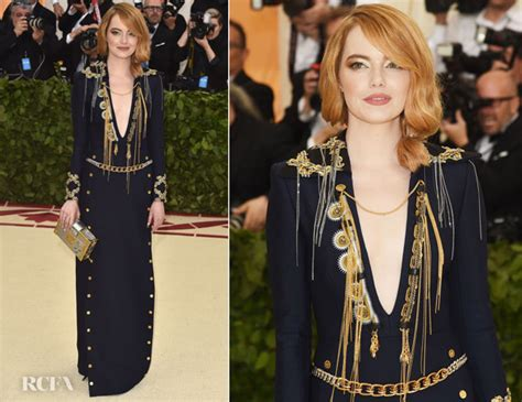 emma stone louis vuitton emma stone in louis vuitton 2018 met gala red carpet