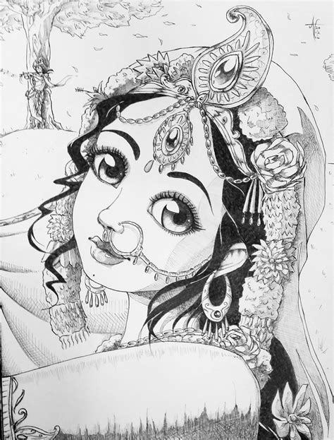 Traditional Sketches Arunarts Com Painting Sketches For