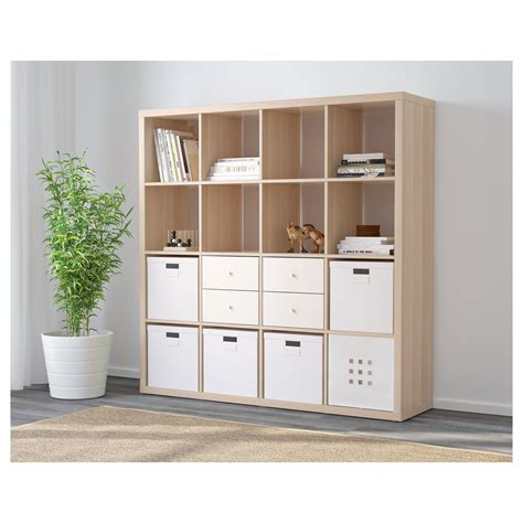 ikea kallax 16 cube storage bookcase square shelving unit