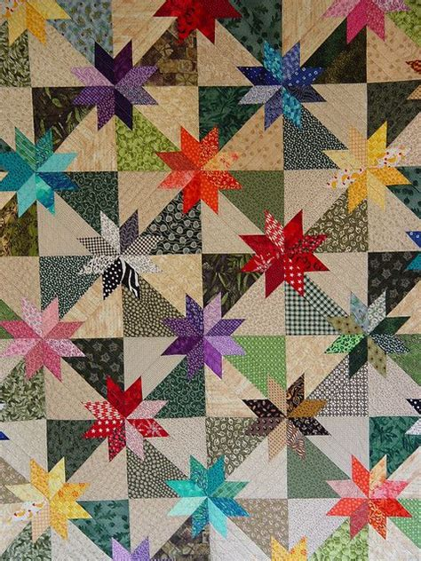 black and white star quilt pattern scrappy stars quilts pinterest
