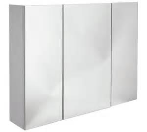 bathroom mirror argos buy home 3 door mirrored cabinet at argos co uk your