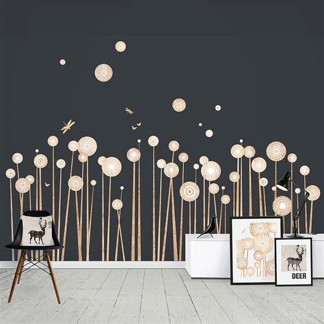 print wall stickers wood print flowers wall stickers by funky darlings notonthehighstreet