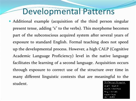 pattern of language development second language acquisition stages