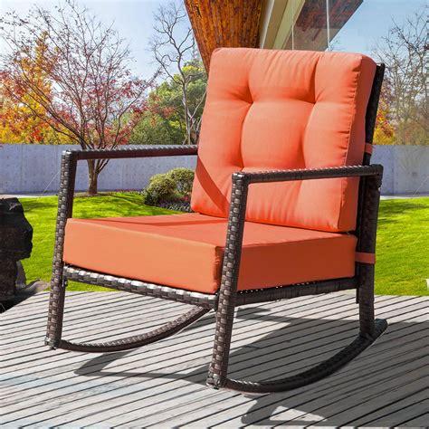 indoor outdoor rocker chair outdoor patio rattan wicker