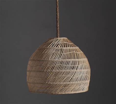 Wicker Pendant Lights Flora Rattan Pendant Pottery Barn